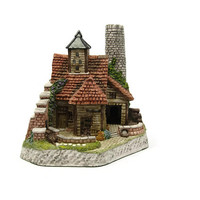 Grumbleweed's Potting Shed David Winter Signed Appearance Piece David Winter Cottages 1995 Tudor Style Home Sculpture