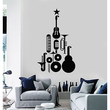 Vinyl Wall Decal Jazz Festival Musical Instruments Star Music Stickers Mural (g746)