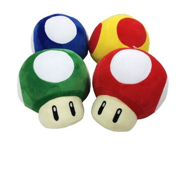 "Super Mario party nes switch 2017   4 PCS/SET Large Size 8"" 20cm  Toad Mushroom Stuffed Plush Pendant Toy AT_80_8"