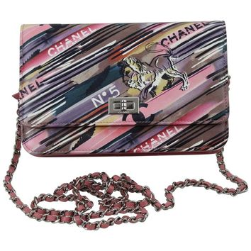Chanel Runway Sample Wallet on Chain (WOC) in Ppink Leather