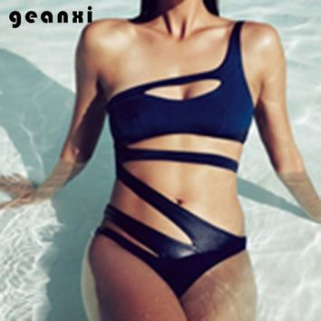 New Push 2018 One Piece Swimsuit Women Sexy Single Shoulder Bathing Suit Hot Sell Micro Beach Wear Hipster Brazilian Swimwear