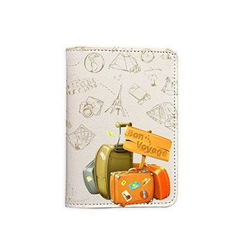 Bon Voyage Passport Holder - Leather Passport Cover - Passport Wallet - Travel Accessory Gift - Travel Wallet for Women and Men_LOKISHOP