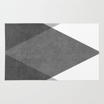 black and white triangles Rug by Her Art