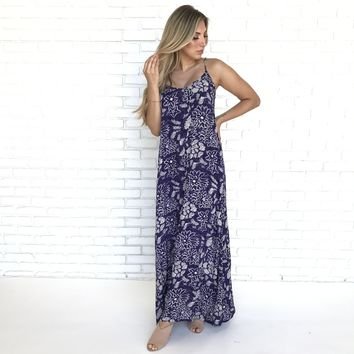 Pretty in Purple Floral Maxi Dress