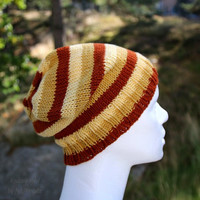 Handknit slouchy beanie hat, supersoft wool and cotton blend yarn, slouchy beanie, perfect holoday gift for him or her