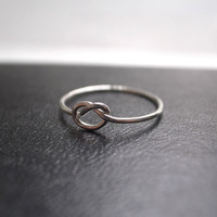 Love knot ring  sterling silver by maryscabinet on Etsy