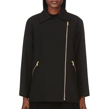 Marc By Marc Jacobs Black Eva Stretch Coat