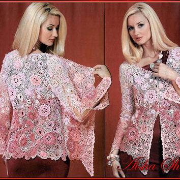 Free Irish Lace Crochet Sweater Patterns Traitoro For