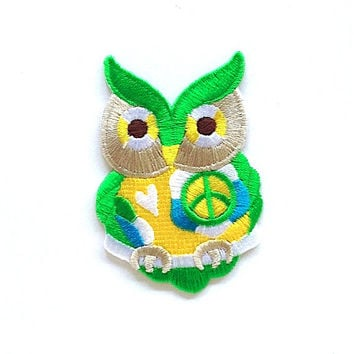Owl Applique Iron on Patch Size 4.8 x 7 cm