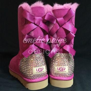 UGG? Australia Bailey Bow boots with Swarovski Crystals