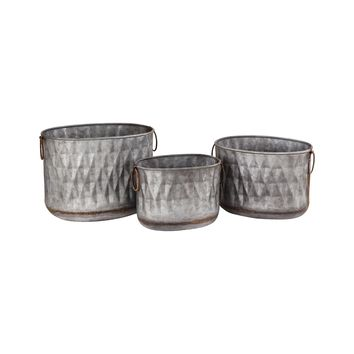 Bailey Set of 3 Oval Planters
