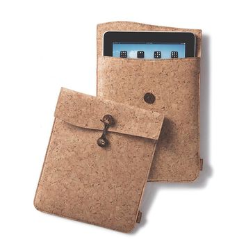 Cork Fabric iPad Travel Case