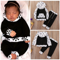 Toddler Kids Baby Boys Girls Clothes Set Hooded Tops Coat Pants Warm Casual Outfits 2PCS Clothing Set US Baby Boy