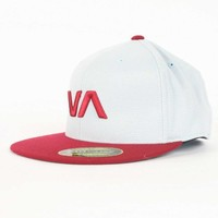 RVCA - Va Sluggers Mens Hat in Dark Red, Size: Small / Medium, Color: Dark Red