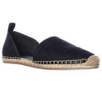 Via Spiga Brisa Slip On Espadrille D'Orsay Flats - Denim