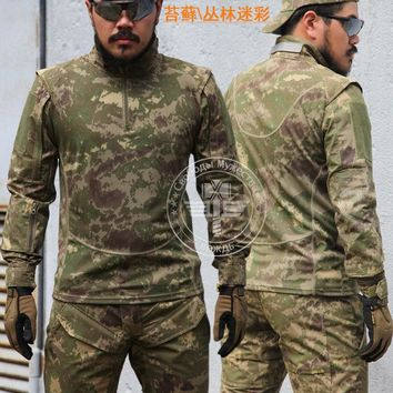 CHIEFS Markings Camouflage Long Sleeve T-Shirt Men Tops Tactical Hunting Clothes Military Hiking Airsoft Wargame Soprtswear Gear