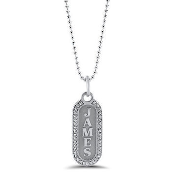Personalized Name Diamond Necklace
