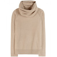 loro piana - losanna cashmere sweater with scarf