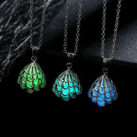925 Luminous Glow-in-Dark Small Shell Necklace