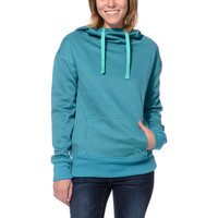 Empyre Girls Isabel Double Dye Teal Pullover Tech Fleece Jacket at Zumiez : PDP