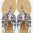 New Look Wide Fit Farrising Multi Coloured Gladiator Flat Sandals