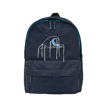 Wave Denim Backpack