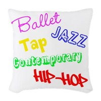 Dance Styles #4 Woven Throw Pillow