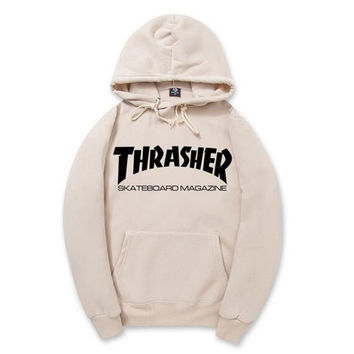 Thrasher Hip Pop Hoodies Men Women Skateboard Fleece Men Couples Brand Sweatshirt Pigalle Mens Suits Warm pull trasher