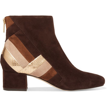 Paneled suede ankle boots | MICHAEL Michael Kors | UK | THE OUTNET
