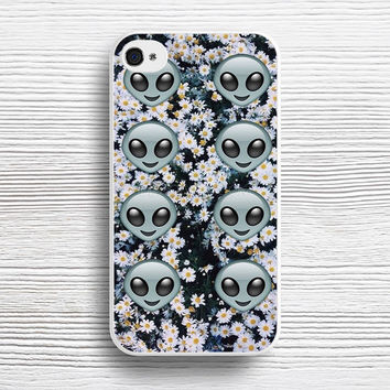 Psychedelic Alien Emoji floral Pattern case iPhone 4s 5s 5c 6s 6 Plus Cases, Samsung Case, iPod 4 5 6 case, HTC case, Sony Xperia case, LG case, Nexus case, iPad case