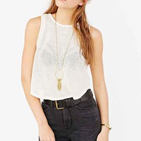 Pins And Needles Indy Mesh Cropped Muscle Top-