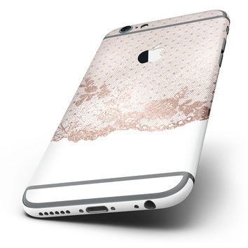 The Rose Gold Lace Pattern 6 Six-Piece Skin Kit for the iPhone 6/6s or 6/6s Plus