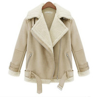 Winter Thick Zipper Fleece Jacket Coat c0076