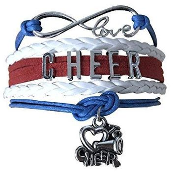 Cheer Infinity Bracelet - Red, White & Blue