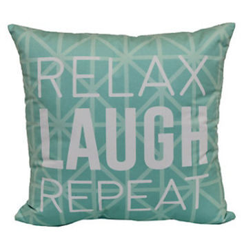 Simple By Design ''Relax Laugh Repeat'' Throw Pillow