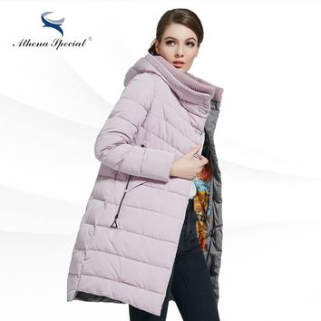 Woman Winter Clothes Padded Slim Women Coat Warm Female Thick Hooded Parka Winter Womens Bio Down Jacket