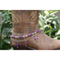 Boot Candy Boot Candy Naturals,  Purple Howlite Crosses