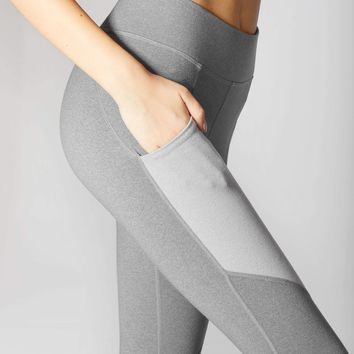 Michi Aura Pocket Legging - Granite Grey