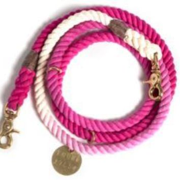 Adjustable Leash Magenta Ombre by Found My Animal at Baysidebuddy.com