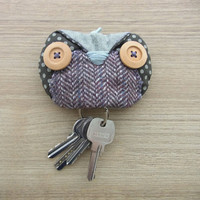 Owl Keychain Pouch - owl accessories - key pouch -  READY TO SHIP