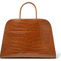 The Row - Margaux 15 buckled alligator tote