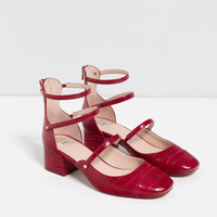 MID HEEL SHOES WITH STRAPS - View all-SHOES-WOMAN | ZARA United Kingdom