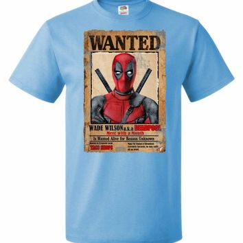 Deadpool Wanted Poster Youth Unisex T-Shirt
