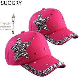PEAPU3S Retail Millinery women flag diamond hat rhinestone cap snapback hat diamond baseball hat rhinestone baseball hat 1pcs/lot Free