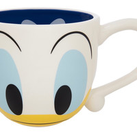 disney parks signature eyes donald duck ceramic coffee mug new
