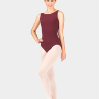 Adult Cotton Boatneck Tank Leotard