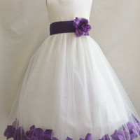 Rose Petal Dress Ivory (Flower Girl Dress)