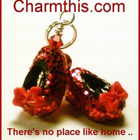 Ruby Slippers Polymer Clay Charm
