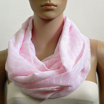 Pink Infinity Scarf Shawl Soft Chunky Fashion Scarves for Women Circle Cowl Scarf Long Tube Scarf Loop Summer Scarf Gift for her Handmade