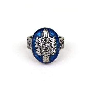 The Vampire Diaries Vintage Ring Damon Salvatore Sun Protectation Antique Silver Rings for Women